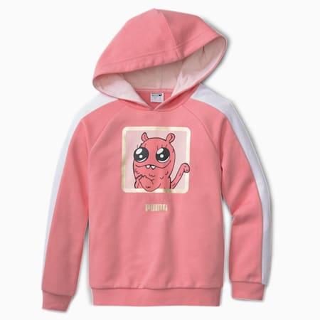 Sweatshirt à capuche Monster pour enfant, Peony, small