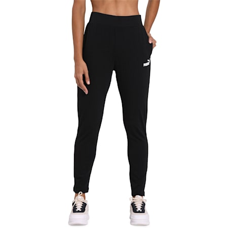 ESS+ Drapy Pants, Puma Black, small-IND