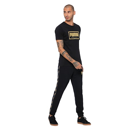Holiday Pack Graphic Short Sleeve Men's Crewneck Tee, Cotton Black, small-IND