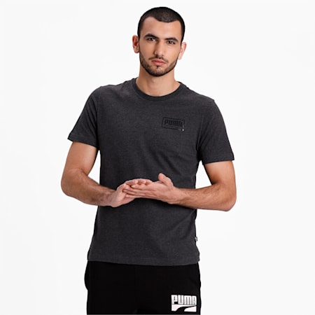 Holiday Pack Graphic Short Sleeve Men's Crewneck T-Shirt, Dark Gray Heather, small-IND
