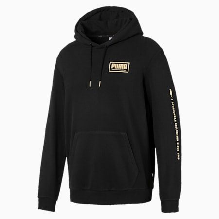 Holiday Pack Long Sleeve Men's Training Hoodie, Cotton Black, small-IND