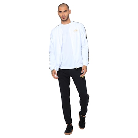 Holiday Pack Full Zip Men's Bomber Jacket, Puma White, small-IND