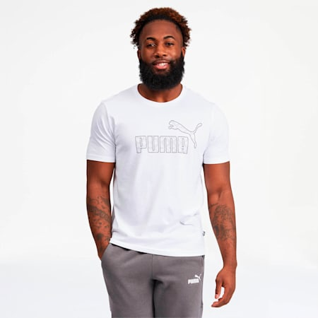 Logo AOP Pack Men's Graphic Tee, Puma White, small