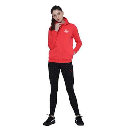 Logo Pack Graphic Full Zip Women's Hoodie, Nrgy Rose, small-IND