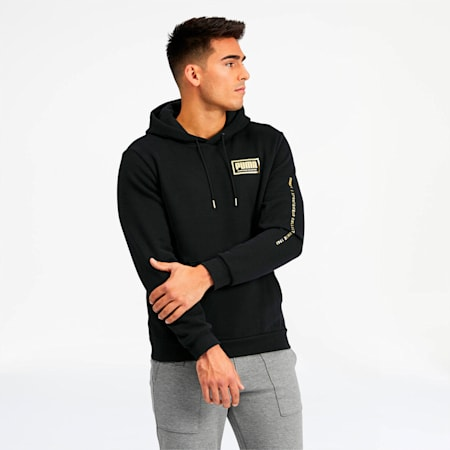 Holiday Pack Men's Hoodie, Cotton Black, small