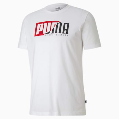 Flock Graphic Men's  T-shirt, Puma White, small-IND