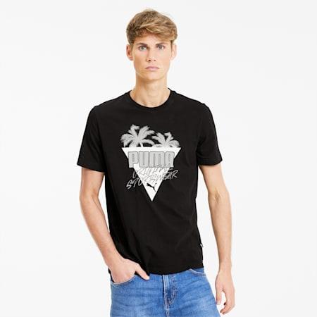 Summer Palms Men's Graphic Tee, Puma Black, small