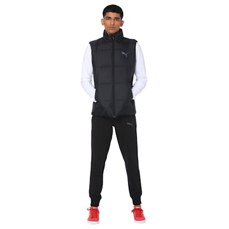 Men's Essential Padded Gilet, Puma Black, small-IND