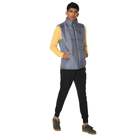 Men's Essential Padded Gilet, CASTLEROCK, small-IND
