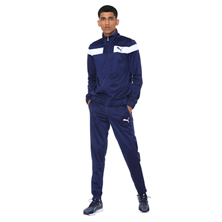 Techstripe Tricot Men's Track Suit, Peacoat, small-IND