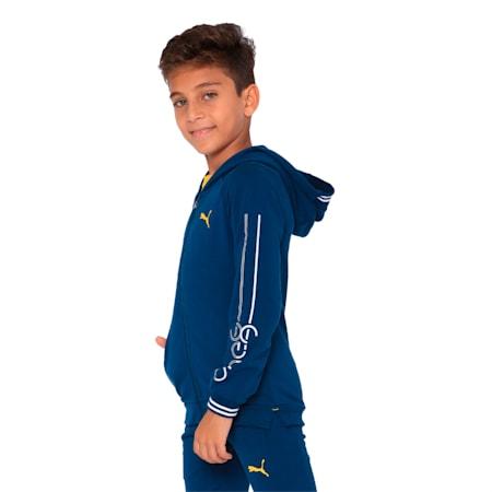 one8 VK Kids' Hooded Track Jacket, Gibraltar Sea, small-IND