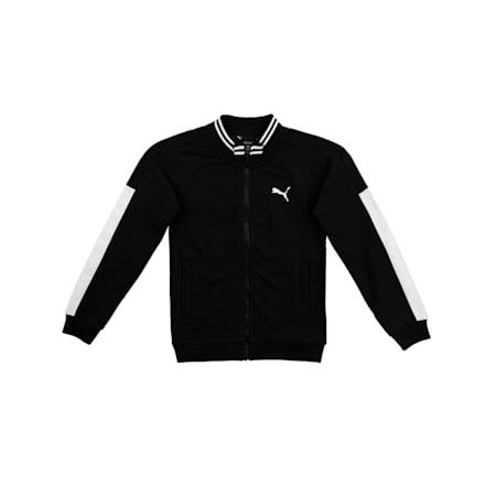 one8 X Virat Kohli Kids' Knitted Sweat Jacket, Puma Black, small-IND