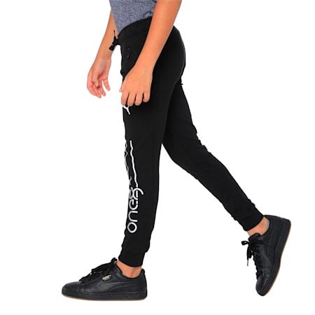 one8 VK Kids' Sweat Pants, Puma Black, small-IND