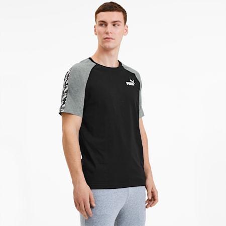 Camiseta con mangas raglán Amplified para hombre, Puma Black, pequeño