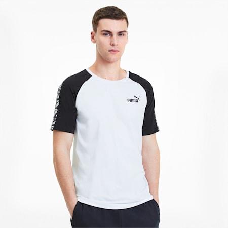 Camiseta con mangas raglán Amplified para hombre, Puma White, pequeño