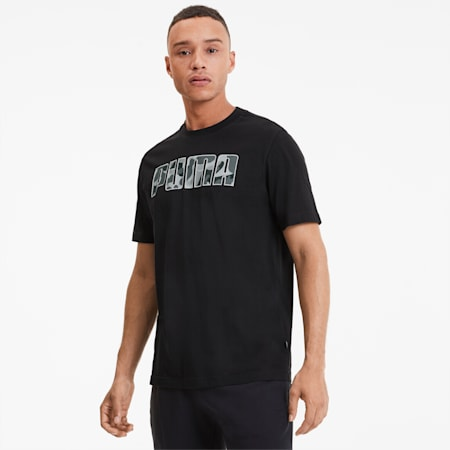Rebel Camo Fill Men's Tee, Puma Black, small-SEA