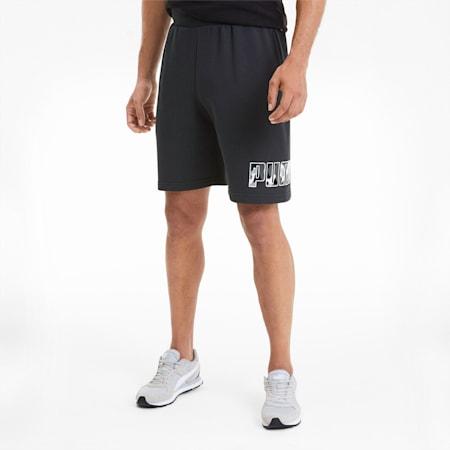 "Rebel Camo 9"" Men's Shorts, Puma Black, small-SEA"