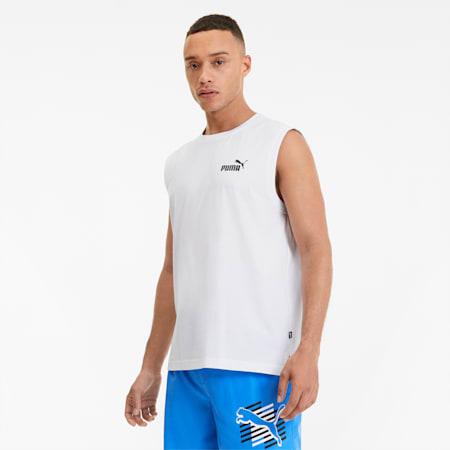 Essentials+ mouwloos shirt voor heren, Puma White, small