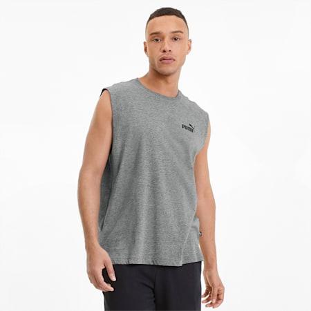 Essentials+ mouwloos shirt voor heren, Medium Gray Heather, small