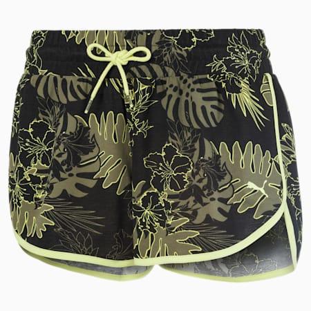 Shorts Summer con stampa su tutta la superficie da donna, Puma Black, small