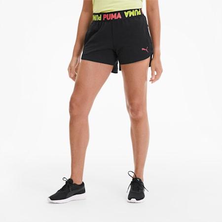 Modern Sports Banded Women's Shorts, Puma Black, small-GBR