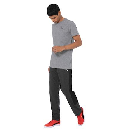 Men's Essentials Small Logo T-Shirt, Medium Gray Heather, small-IND