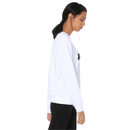 Essentials Crew Women's Sweatshirt, Puma White, small-IND