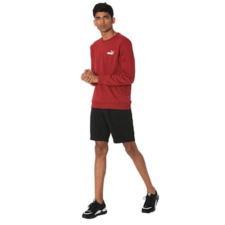 Essentials Fleece Crew Neck Men's Sweater, Rhubarb, small-IND