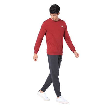 Essentials Men's Crew Sweatshirt, Rhubarb, small-IND