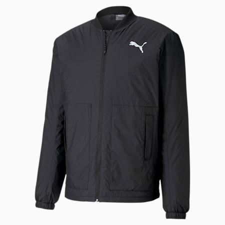 Essentials+ Style Men's Bomber Jacket, Puma Black, small-IND