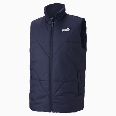 Essentials Padded Men's Gilet, Peacoat, small-IND