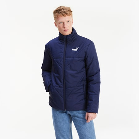 Essentials Herren Gefütterte Jacke, Peacoat, small