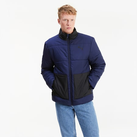 Wyściełana męska kurtka ESS+, Peacoat, small