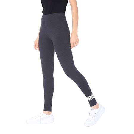 Women's Essentials Logo Leggings, Dark Gray Heather, small-IND