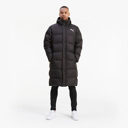 Long Oversized Down Men's Coat, Puma Black, small
