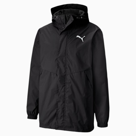 Hooded Men's Rain Jacket, Puma Black, small