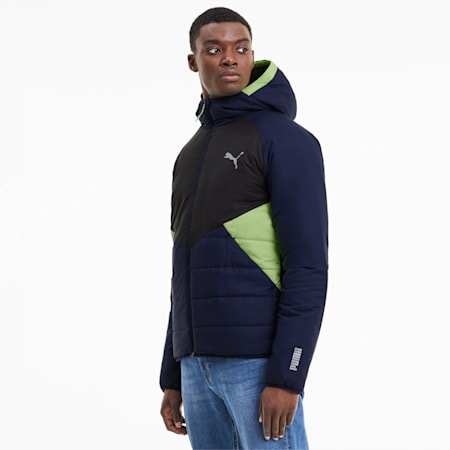 warmCELL Men's Padded Jacket, Peacoat, small