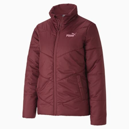 ESS Padded Women's Jacket, Burgundy, small-IND