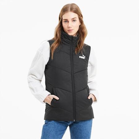 Essentials Women's Padded Vest, Puma Black, small