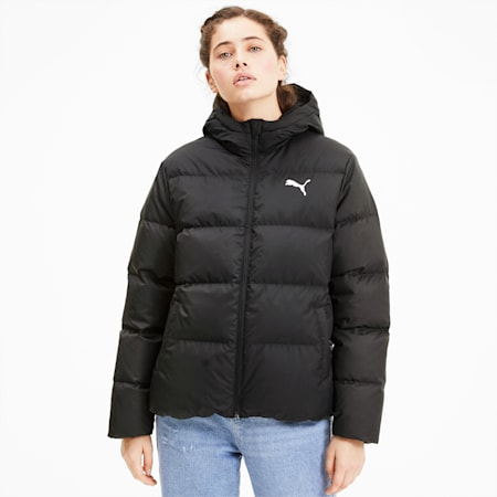 Essentials+ Women's Down Jacket, Puma Black, small