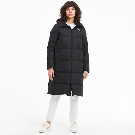 Long Oversized Down Women's Coat, Puma Black, small