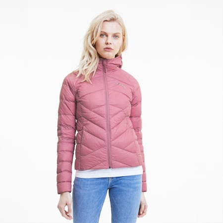 PWRWarm PackLITE Hooded Women's Down Jacket, Foxglove, small-IND