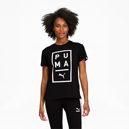 T-shirt Above the Bar, femme, noir PUMA-blanc PUMA, petit
