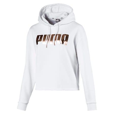 HOLIDAY ウィメンズ フーディ, Puma White, small-JPN