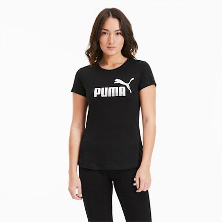 T-Shirt Essentials+Metallic pour femme, Puma Black-Silver, small
