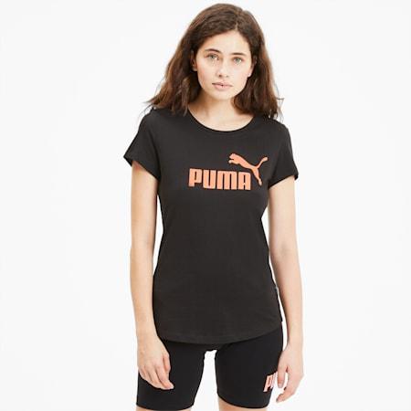 Essentials+ Metallic Women's Tee, Puma Black-NRGY Peach, small