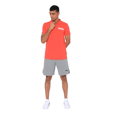 Men's Logo Gaphic Polo, High Risk Red, small-IND