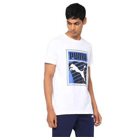 Mens Graphic Tee I, Puma White, small-IND