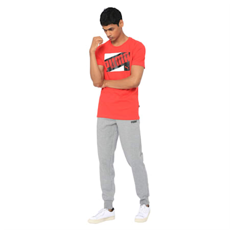 Mens Graphic Tee XIV, High Risk Red, small-IND
