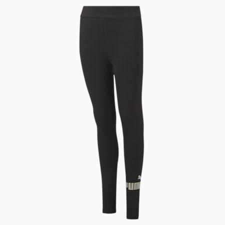 Młodzieżowe legginsy Essentials+ Logo, Puma Black, small
